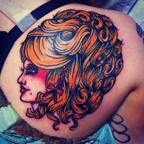 joshstephenstattoos:  Ladies and gentleman, Mrs. Dolly Parton. (at Hold It Down Tattoo)  Hold It Down Tattoo 302 N. Goshen St. Ste. #100 Richmond,VA 23220 (804) 643-3696 Questions or concerns? Need to make an appointment? Give us a call or send an email.