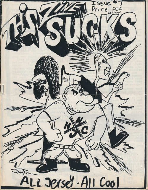 This Zine Sucks #7, 1987, Trenton, New Jersey. Published by Bob Conrad. Public Collectors recently received a very generous gift of sixty old, mostly photocopied 'zines from the collection of Dale Johnson of Bacon in the Beans 'zine. Dale was (and still is) part of this world in the late 1980s and early 90s when I was also doing an underground music/culture 'zine called Primary Concern. His donation fills some nice gaps in my own collection from this period. You can find Bacon in the Beans at: PO Box 4912, Thousand Oaks, CA 91359. Send Dale something great!