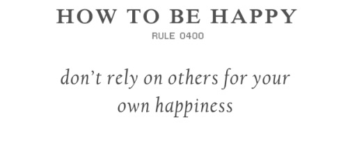 Follow the Rules to be happy (via)