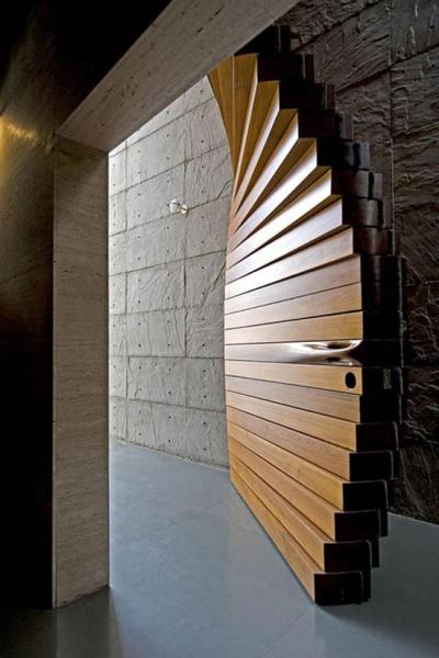 theblackworkshop:  Striking Curtain Door by Matharoo Associates