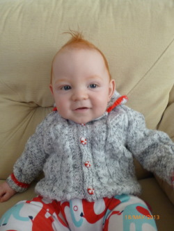 pink-big-mumma:  Alfie's new cardigan his Grandma knitted him :D