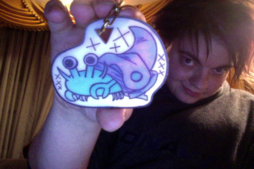 jouleslynne:  gethenian:  I found some ShrinkyDinks and made a keychain of my crab-self. Because that needed to happen.  YES