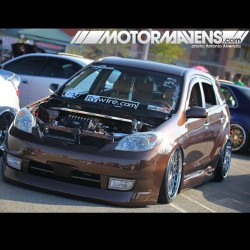 Have you ever seen a #Toyota #Matrix that has been modified more than this one? #Praxis #Rywire #wiretuck #diamondstitch interior #slammed on #VIPmodular wheels. #letsgoplaces (at Reno Toyota/Reno Scion)