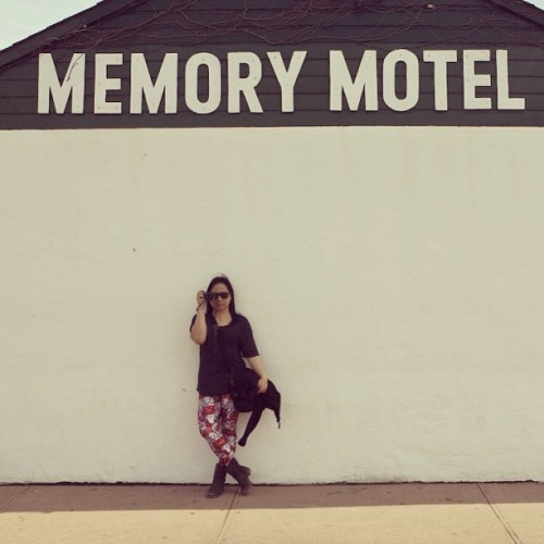 Memento. #montauk #motel #travel #signs #blackmilk #camera