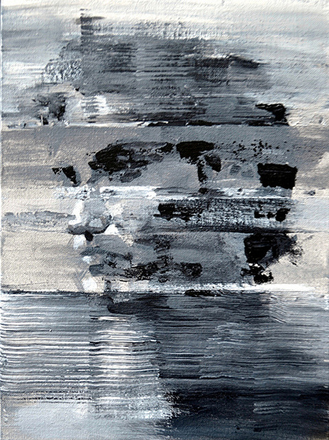 oxane:  Freddy in grisaille by raeburn10025 Abstract study. Acrylic on linen board. 9 x 12 inches. 12/8/12. National Academy of Design.