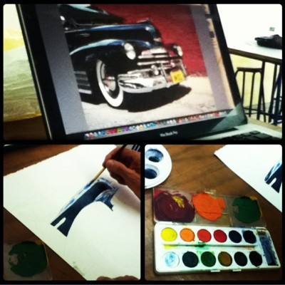 Acurelaso #LowRider #chevy #watercolor #brush