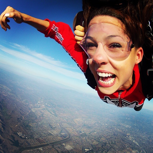 So, I jumped out of a plane for the first time. #skydiving #losangeles #freefall #funnyface #fiestamovement