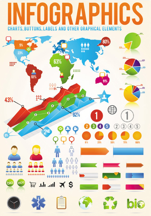 30 Templates & #Vector Kits to #Design Your Own Infographic (via 30 Templates & Vector Kits to Design Your Own Infographic)