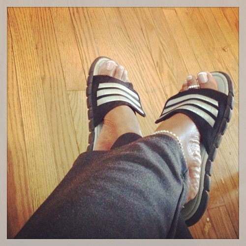 #ADIDAS #SLIDES #PEDICURE #FRENCHMANICURE #RELAXED #LOVE #JANELRAE