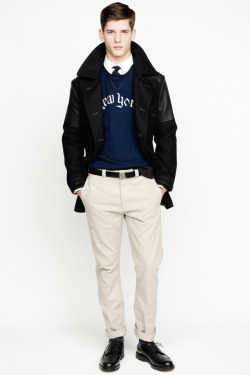 chasehayes:  J.Crew Fall/Winter 2013 wool and leather peacoat.