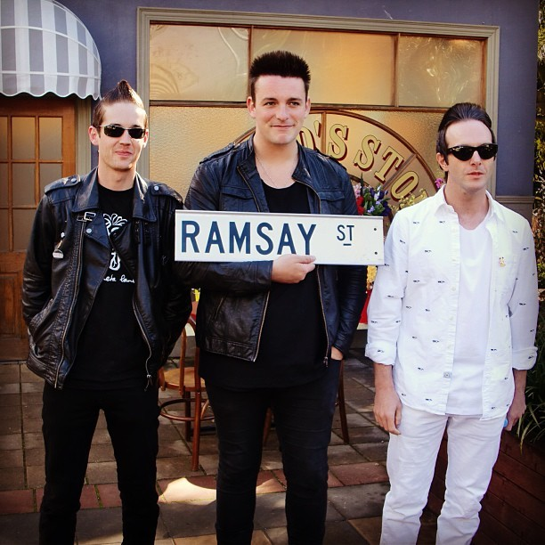 Hangin' out on Ramsay street in Melbourne, July 2011 GV X #glasvegasinmelbourne