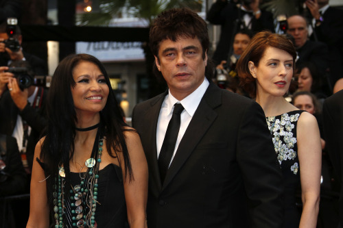 Michelle Thrush and Benicio Jimmy P. red carpet, Cannes