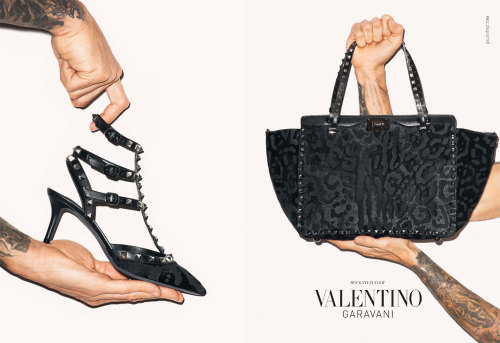 "Photographer Terry Richardson hand models for Valentino's latest Autumn/Winter 2013 accessories campaign ""Rockstud""."