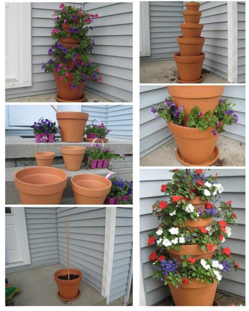 inspirations4yourlife:  DIY Flower Tower  I am going to try this!