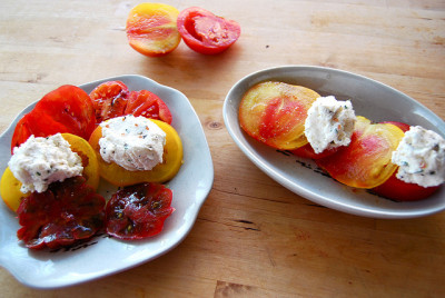 tomatoes & ricotta by sevenworlds16 on Flickr.