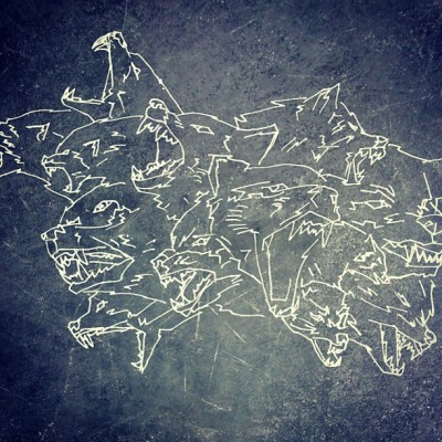 Its starting to look like something. #wolves #wolf #illustration #design #texture #psd #photoshop #theupperhand