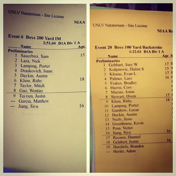 Boooyaaahhh!!!!! Number 6 on the #200IM but number 9 on back :/ oh well…Yay!!!!