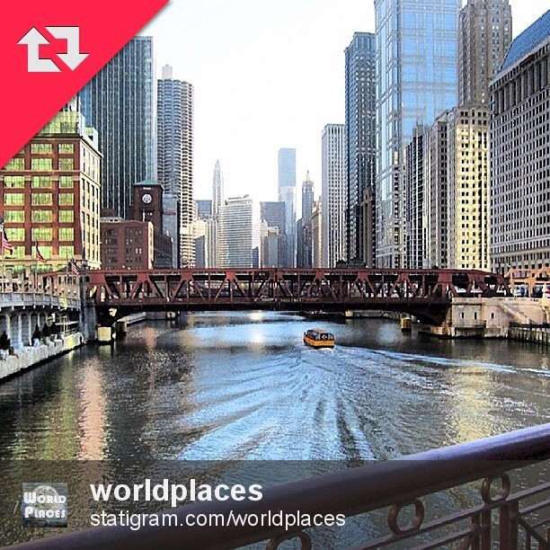 Many Thanks to @worldplaces for featuring this photo of my beloved Chicago. Follow it & tag your pics #worldplaces
