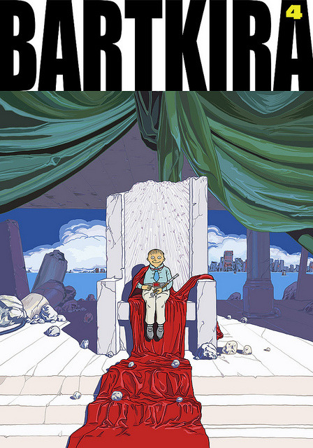 BARTKIRA vol. 4 on Flickr.ALL HAIL THE MIGHTY RALPH. #bartkira #akira #simpsons