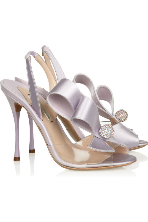 Hot shoe of the day: Nicholas Kirkwood Swarovski crystal-embellished slingbacks.