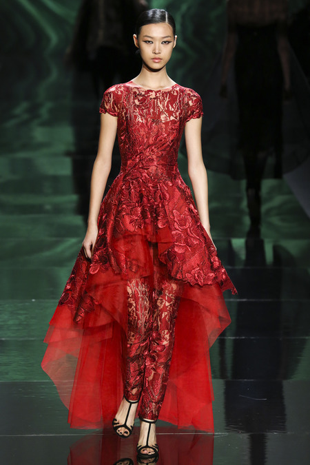 Somebody wear this Monique Lhuillier Fall 2013 dress with pants to the Oscars, PLEASE