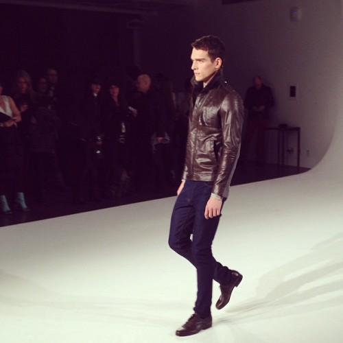 Leather and denim @carloscamposnyc. It's a good look.