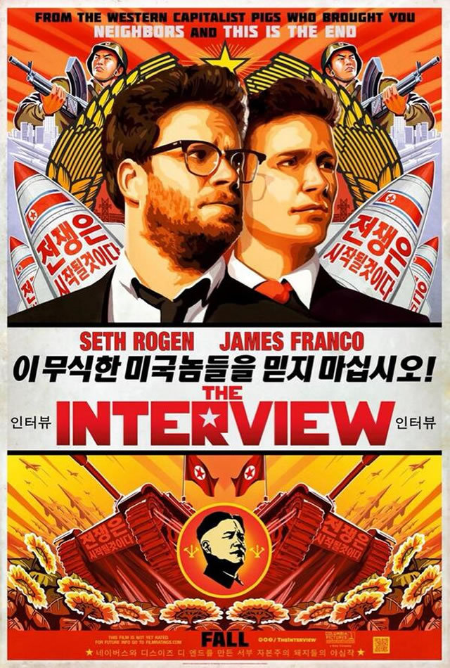 (via First Trailer, Poster & Pictures for 'The Interview', Rogen and Goldberg's 'This is the End' Follow-Up | Rope of Silicon)