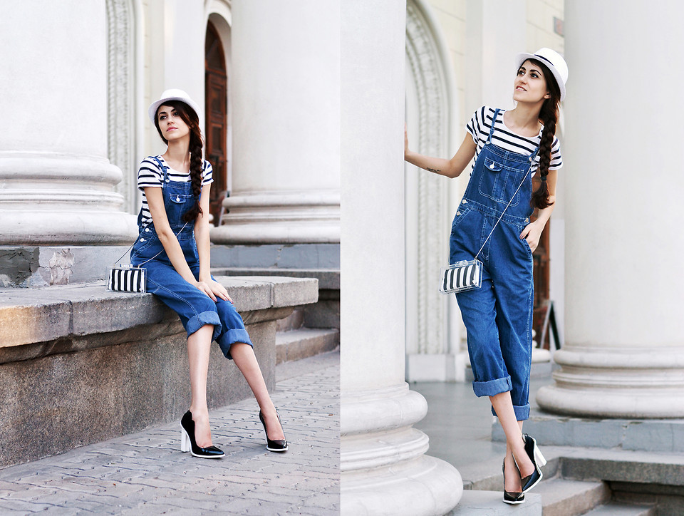 lookbookdotnu:  Denim Dungarees (by Tina Sizonova)