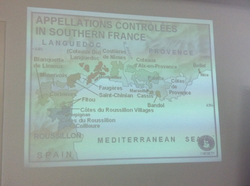 "atsoukalidis:  Southern France This post is based on the relevant lecture given by Konstantinos Lazarakis MW http://www.mastersofwine.org/en/about/meet-the-masters/profile/index.cfm/id/CEEFD58C-F47F-4D5C-B1B8C23D55FEF22E at WSPC http://www.wspc.gr/ for the diploma level of WSET http://www.wsetglobal.com/ , the relevant study guide, Jancis Robinson's http://www.jancisrobinson.com/ ""Oxford Companion to Wine"" 3rd edition http://www.amazon.com/The-Oxford-Companion-Wine-Edition/dp/0198609906/ref=pd_rhf_ee_s_cp_2 and various Internet sources (all referenced and linked to). The vineyards around the Mediterranean coast from Italy to Spain comprise the wine region of Southern France , with three main regions: Provence http://en.wikipedia.org/wiki/Provence_wine , Languedoc and Rousillon http://en.wikipedia.org/wiki/Languedoc-Roussillon_wine . This region is the source of most of the Vins de Table http://en.wikipedia.org/wiki/Table_wine of France with growers looking for quantity not quality in wine production. In the last years there was severe and rapid modernisation (mostly EU-funded). The region still has the image of a bulk wine producer since it produces a third of all French wine (90% of it is red). Vin de Pays legislation development gave this region the opportunity to develop monovarietal wines and thus attract skilled winemakers fron France and abroad (mostly US - Mondavi and Australia - Cobstellation wines - La Baume), making it France's ""New World"". There are about 1,000 estates and 285 co-operatives, with 22 large negociant houses. Southern France as a wine region, is the logical extension of the southern Rhone region. The varietal blend is very close with enlarged plantings of Carignan. The Vin de Pays legislation opened the door for plantings of monovarietals, successful in other wine regions, like Cabernet Sauvignon, Chardonnay, Merlot etc. The climate is Mediterranean with long hot and dry summers, so topography, especially altitude, is an importnat differentiating factor on a local scale. There is a vast range of soils, and yields are a key element on quality. In Provence some of the oldest vineyards in France were discovered and produces mainly rose wines with two styles full and rich or light and fresh. The main AOC are Cotes de Provence, Coteaux d'Aix-en-Provence, Bandol (a hilly area with terraced vineyards making reds and rose from Mourvedre commanding high prices), Palette, Cassis, and Bellet. Jancis Robinson describes Provence as a ""region with considerable potential in the far south east of France whose associations with tourism and hedonism have perhaps focused too much attention on its relatively expensive rosés."" Corsica http://en.wikipedia.org/wiki/Corsica_wine is closer to Italy in style and most vineyards are closer to the coast making reds and roses: Niellucio, Sciacarello http://en.wikipedia.org/wiki/Sciacarello, Grenache, Cinsault, Syrah Carignan for reds and Vermentino, Ugni Blanc and Malvoise de Corse for whites. In Corsica there is the famous village of Cargese http://en.wikipedia.org/wiki/Cargèse founded by Greeks from Mani http://en.wikipedia.org/wiki/Greeks_in_France#The_Greeks_of_Corsica in the 17th century, the famous ""Greeks of Corsica"" http://www.tlg.uci.edu/~opoudjis/Work/cargese.talk.mell.pdf . Languedoc-Rousillon has a lot of land under vine and produces 25% of all French wine (only 10% of AOC wine). The main AOC are Costieres de Nimes, Coteaux de Languedoc, Faugeres, Saint-Chinian, Minervois, Blanquette de Limoux, Corbieres, Fitou, Collioure, Cotes de Rousillon, and Cotes de Rousillon villages. 66% of the local VdP are exported as opposed to 25% elsewhere. A wine region that combines mass production with some hidden gems."