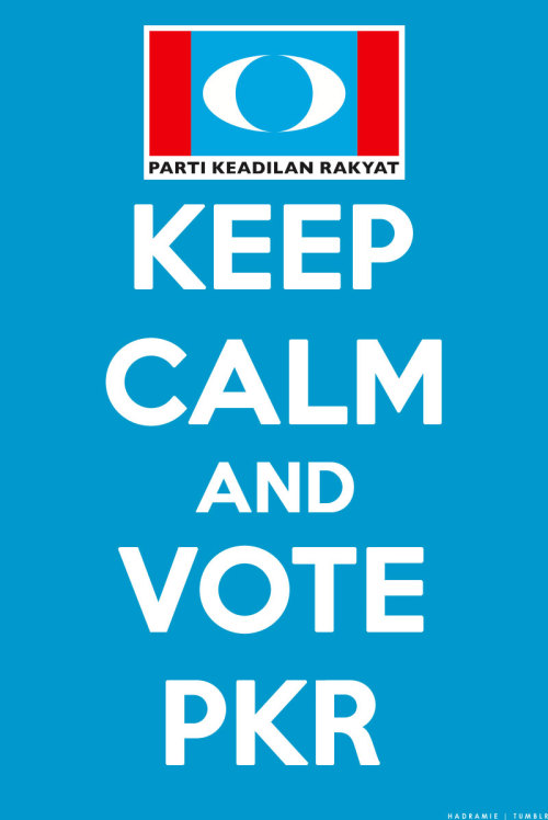 KEEP CALM AND VOTE PKR