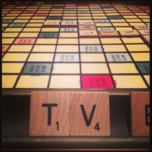 drunken scrabble party beginsss. #wine #scrabble #saturday #words #fun  (at Hudson, New York)