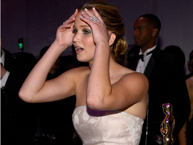 Don't worry JLaw, we'd feel the same way if Jack Nicholson hit on us too.