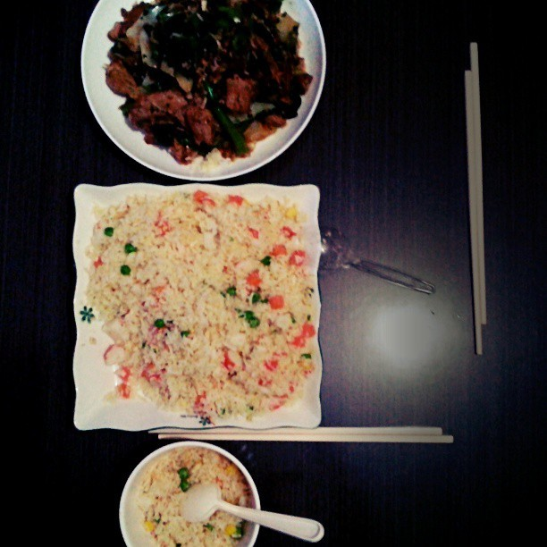 #是日晚餐 #三色炒冷飯 + #炒雜菜 #homemade #dinner #setdinner #with #sister #food #hk #hkig
