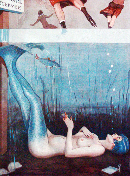 "vintagegal:  ""Sous la Glace"" by Georges Léonnec for La Vie Parisienne, 1926"