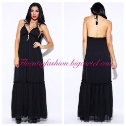 The Chiffon Maxi Dress is now available for pre-order! Those who order it now will receive free shipping with their purchase!💗💗💗 #fashion #summerfashion #sexy #black #chiffon #maxi #dress #pretty #fluentinfashion #boutique