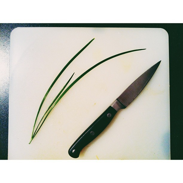 chive #kitchen #knife #cooking #vscocam