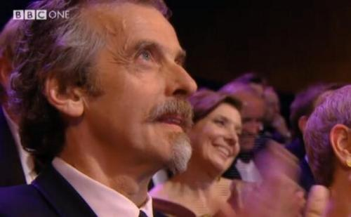 kitt66:  Deeply pissed off that Peter missed out on a BAFTA tonight - there is no justice. However, happy to say he looked great with his evil Cardinal moustache and beard.  Screencap courtesy of TheMediaTweets