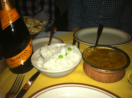 Lamb Chettanand, Basmati Rice, Prosecco, Ekta, Philadelphia, PA. LAST POST EVER! WE ARE DONE! THANKS FOR AN AMAZING YEAR!!!!!!!!!!