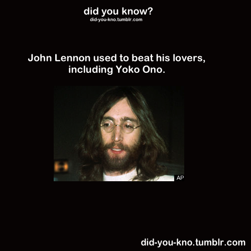 firstladysexyfineass:  did-you-kno:  Source  The john lennon white folk don't like to talk about