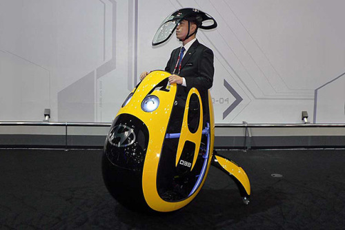 thisistheverge:  Hyundai dreams up egg-shaped E4U personal transporter Sorry, this coolmobile only has room for one.