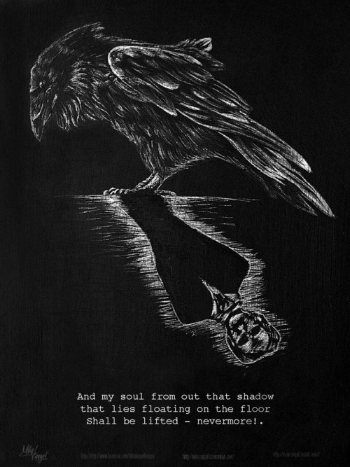 feartothehumanity:  The Raven - Edgar Allan Poe