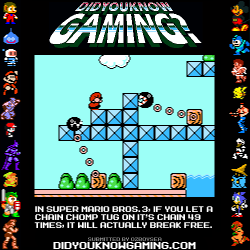 didyouknowgaming:  Super Mario Bros. 3. https://www.youtube.com/watch?v=Gj07hria_wA&t=5m17s