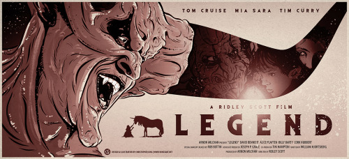 My new poster illustration for Ridley Scott's classic fantasy movie Legend. Read about the making of here> Legend Movie Poster