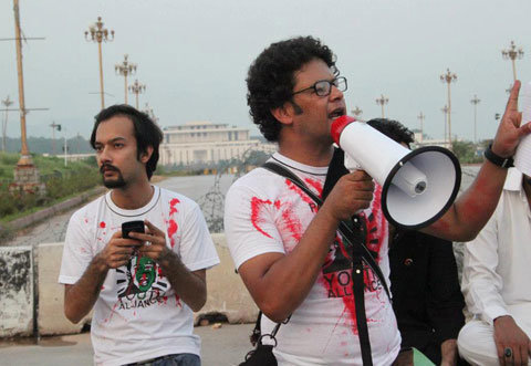 "mehreenkasana:  Irfan Ali, a Pakistani activist who was killed on Thursday in a bombing, addressed a rally against sectarian attacks in September in Islamabad. [Photo via Ghalib Khalil] Writing this has not been easy. More than a 100 killed in two cities in a single day. Innocent Pakistani civilians, journalists, rescuers and police officers. The victims predominantly belong to the Hazara community and, by extension, the Shia population of Balochistan. One of the most relentlessly attacked targets of Sunni extremists, the Hazara community has suffered for the past 11 years and continues to find very little support from the authorities of Pakistan. Verbal condemnation is issued day in and day out but practically nothing has been done by the State to ensure the protection of the massively assailed minority. For perspective, it is important to remember that the persecution of the Hazara community is not a predicament native to Pakistan only; its complicated and gory history is linked back to Afghanistan. Some argue that the basis of the strife was a product of ethnic rivalry while others maintain that this is only another violent manifestation of Sunni extremism against a non-Sunni sect. The 18th century is noted to be one of the most oppressive periods pertaining to the bloody subjugation of the Hazara community under Amir Abdur Rehman Khan in Afghanistan; His rule resulted in the mass exodus of the Hazara people into present-day Quetta (Pakistan) and Mashad (Iran). Now in 2012, in Pakistan, over 900,000 Hazara live in the country - mostly in the southwestern province of Balochistan where the population is largely Shia. Touted as ""heretics"" by Pakistani extremist Sunni militants, the Hazara community of Pakistan remains under siege as victims of ethnic and, more obviously, sectarian violence. 375 Pakistani Shia Muslims have died in 2012 — the worst toll since the 1990s, human rights activists claim. With only eleven days into 2013, the future doesn't seem too different for the Hazara of Pakistan. But this is only a brief glimpse in the chaos that rattles Balochistan in specific and Pakistan in general. I want to talk about our selective outrage as Pakistanis. And before anyone objects, let it be known that I, too, am a Pakistani Muslim. This is only a plea, a request that we, as Pakistanis, look into ourselves. I find US drone strikes deplorable; Anyone arguing in favor of missiles to ""correct"" the situation in Pakistan is dangerously mistaken because the performance of the Taliban and Al-Qaeda remains unaffected by these ""precise"" and ""surgical"" strikes. If anything, these strikes have helped militants in recruiting more members for revenge. I find Western Imperialism disgusting. It goes without saying that the colonial and imperial powers of the West have destroyed the lives of countless human beings. I find Whiteness despicable; A social construct to silence and trivialize people of color is something no decent human being would concur with. At the same time, I find it extremely important for social growth that I criticize what is native to my country. I see very little of it coming from Pakistanis - living within the land or abroad, it rarely matters. I find the Pakistani military and intelligence agencies' aggression and abuse of human rights unacceptable. For me, the disproportionate manipulation of religion and power by the State is reprehensible. I view the gross consumption of resources, aid, labor force and more by the Elite of Pakistan horrendous and pathetic. I have learned - with much unease and dismay - that we, as a people, will quickly run to the help of those oppressed outside of our borders. Which is not to say that transnational solidarity is wrong; Raising our voice and searching our pockets to help those under tyranny is something Pakistanis will never think twice before doing. We care, as a people, we truly care. But sometimes - and this is where my disappointment stems from as a citizen - our priorities are misguided. The debate whether this is because we have gradually become numb as a nation is an entirely separate one. Our home is on fire and our gaze is averted. Let us understand two facts: Firstly, tyranny is Janus-faced. Secondly, the State cannot write these crimes under our names. Power operates in various forms. USA remains, undoubtedly so, one of the top abusers of human rights and international laws. There is no questioning it. But that does not mean our criticism, as Pakistanis, of our local corrupt and complicit government(s) should soften. Our intelligence agencies assisted extremist factions like LeJ - Lashkar e Jhangvi, the same that attacked our fellow citizens yesterday, now closely allied with the Taliban - and later on the Government of Pakistan ""banned"" them but never really got to practically ceasing their operations. Sometimes - knowingly or not - we pick sides. Humeira Iqtidar deconstructs this fallacy of 'picking sides'; Do we form an alliance with Imperialism against homegrown madness or do we support homegrown madness against Imperialism? Iqtidar denounces both and firmly asserts that Pakistanis can reject both forms of megalomania. This refusal to align with both forms of tyranny is essential to our progress and safety as Pakistanis - regardless of our religious, ethnic, social differences. We can reject external cruelty in the same way we can reject state-sanctioned brutality. Our selective outrage only weakens us. In many cases, it is our silence that kills us and our loved ones. Furthermore, we must not allow our debauched, bribable and treacherous Government pass these atrocities off as incidents 'normalized' by us. We do not support the genocide of Shia Pakistanis or Shia Muslims or any minority anywhere. Our silence must not be appropriated by these groups and parallel states. Tomorrow I leave with my friends to protest against the attacks at Liberty Chowk in Lahore at 5PM. Our demand is simple: Arrest the killers, empower the oppressed. My pessimism tells me the State will remain unfazed - like it has all this time. My optimism tells me our unity will grow in numbers and in strength, and one day we will save our home from burning to the ground, our gaze will focus on what weakens our core. There is hope. I see it in you all."