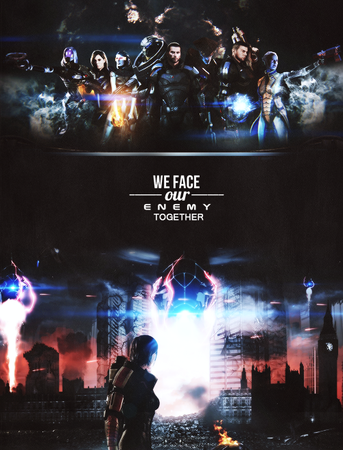 """We face our enemy together."""
