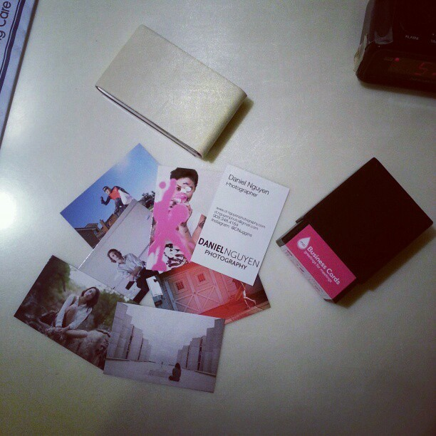 Im digging my new business cards haha guess who is in the cards? #sandrawong #ajrafael #robin #businesscards #business #danielnguyenphotography #danielnguyen #moo #lvlup #shoots #sessions #cards
