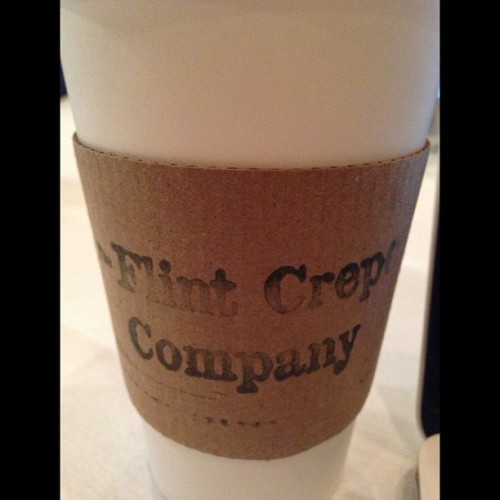 Pleasantly surprised to find @zingerman's #coffee in #FlintMI | #AnnArbor (at Flint Crepe Company)