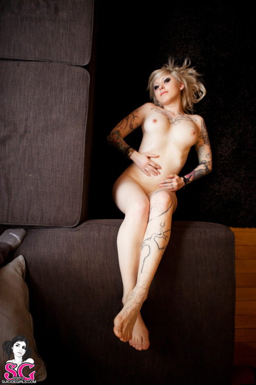 "suicidegirls:  Show Yanna  some love on her latest nude pin-up set entitled ""This is England."" See more of this beautiful Parisian when you become a member today."