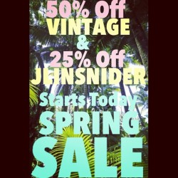 💥💥50% off VINTAGE + 25% off JLINSNIDER 💥💥 Come get yo spring sale on with us!!  (at JLINSNIDER)