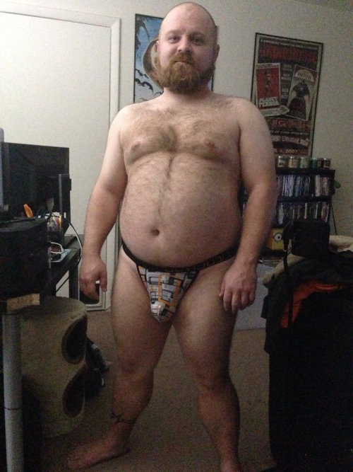 theunderwearbear:cubvader:nickthegeekbear got some new briefs that look great on him so naturally I had to take a couple photos to share with y'all!I also have a pair so you can probably expect to see some photos eventually! ☺️I've got a similar pair - this pattern, but a different cut!
